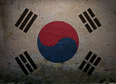 flags, South Korea - random desktop wallpaper