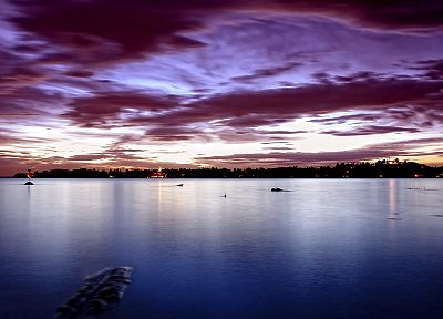 sunrise, landscapes, cityscapes, lakes - related desktop wallpaper