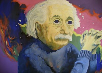 psychedelic, LSD, Albert Einstein, artwork - desktop wallpaper