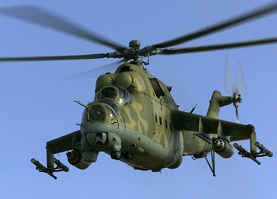 helicopters, vehicles, Mi-24 - random desktop wallpaper