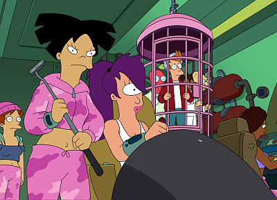Futurama, Dr Zoidberg, screenshots, Hermes, Amy Wong, Professor Farnsworth, Turanga Leela, Philip J. Fry - random desktop wallpaper