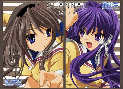 Clannad, Sakagami Tomoyo, Clannad After Story, Fujibayashi Kyou, anime, anime girls - related desktop wallpaper