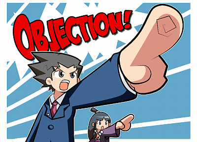 video games, Phoenix Wright, objection - desktop wallpaper