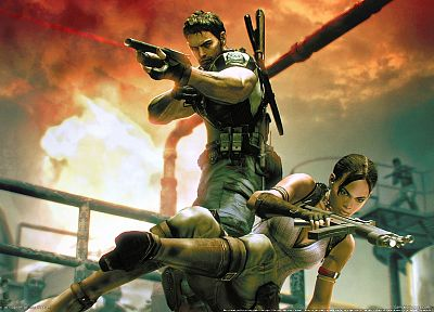 video games, Resident Evil, 3D, Sheva Alomar - related desktop wallpaper