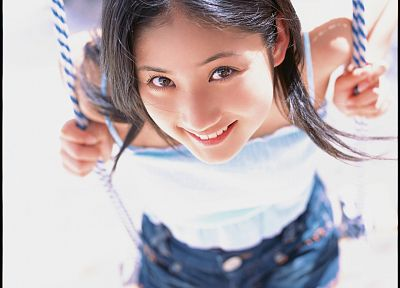 women, models, teen, Japanese, swings, Asians, Saaya Irie, gravure - desktop wallpaper