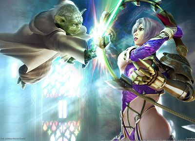 video games, Soul Calibur, Yoda, Ivy Valentine - random desktop wallpaper