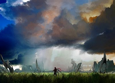 video games, clouds, landscapes, 3D - related desktop wallpaper