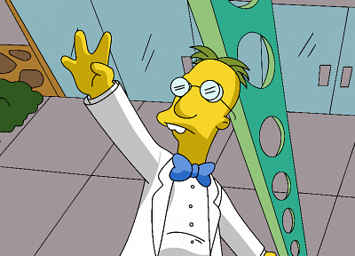 cartoons, The Simpsons, Professor Frink - random desktop wallpaper