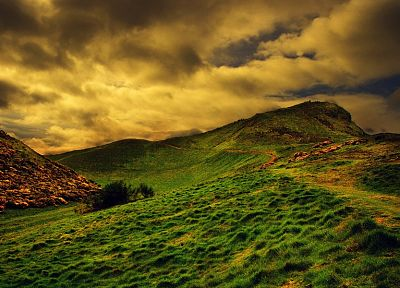 clouds, landscapes, grass - random desktop wallpaper