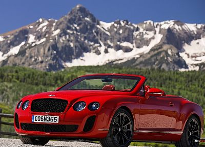 cars, Bentley, vehicles, convertible, wheels, red cars, Bentley Continental Supersports Convertible - random desktop wallpaper