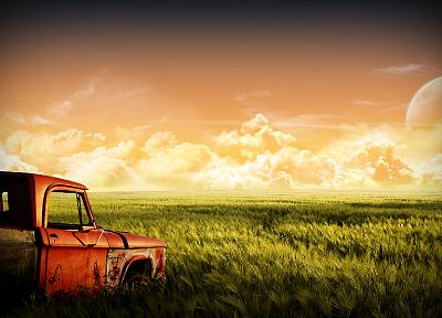 landscapes, nature, old, trucks, vehicles - related desktop wallpaper