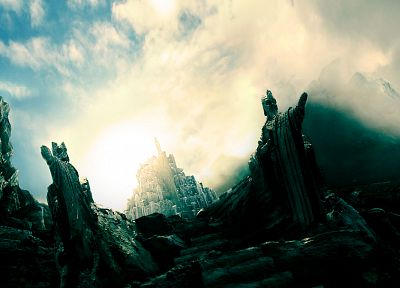 Minas Tirith, The Lord of the Rings, Argonath, statues - random desktop wallpaper