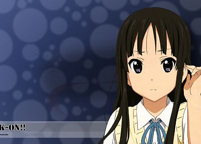 K-ON!, school uniforms, Akiyama Mio - random desktop wallpaper