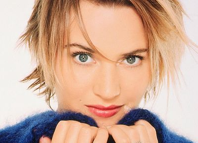 blondes, women, Kate Winslet, actress, short hair - random desktop wallpaper