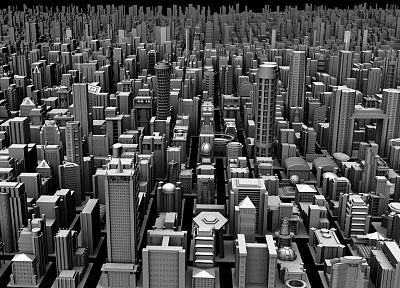 cityscapes, architecture, buildings, grayscale, cities - related desktop wallpaper
