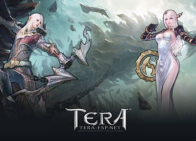 women, archers, Tera, sorcerer, MMORPG, High Elf - random desktop wallpaper