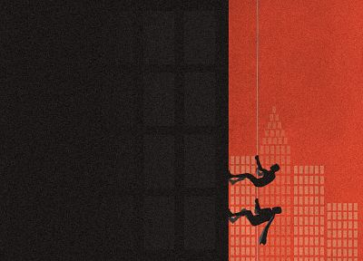 Batman, climbing, superheroes, vectors, urban, skyscrapers, cities - random desktop wallpaper