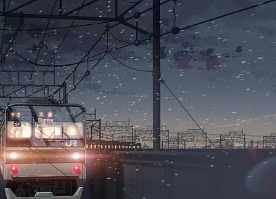 trains, Makoto Shinkai, 5 Centimeters Per Second, vehicles - random desktop wallpaper