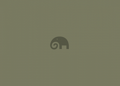 minimalistic, elephants - desktop wallpaper