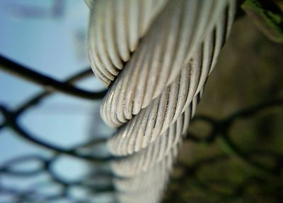 fences, chain link fence, ropes - random desktop wallpaper