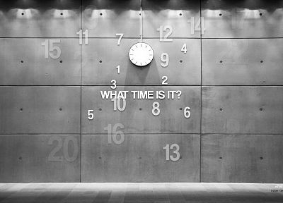 black and white, wall, clocks, modern - random desktop wallpaper