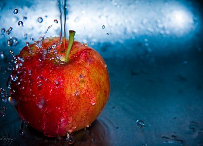 water, Apple Inc., fruits, slow - random desktop wallpaper
