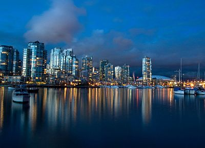 cityscapes, skylines, architecture, buildings, reflections - related desktop wallpaper