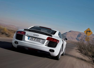 cars, Audi R8, white cars, German cars - related desktop wallpaper