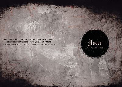 quotes, Hell, typography, verse, anger, The Divine Comedy, Dante Alighieri - random desktop wallpaper