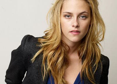 blondes, women, Kristen Stewart, celebrity, white background - related desktop wallpaper