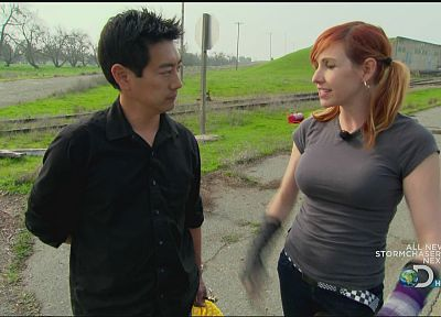 women, Mythbusters, Kari Byron, Grant Imahara - related desktop wallpaper