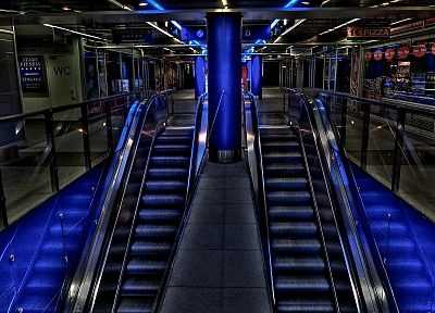stairways, escalators - random desktop wallpaper