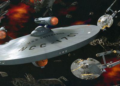 Star Trek, USS Enterprise - random desktop wallpaper