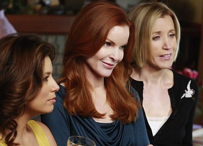 TV, women, Eva Longoria, Felicity Huffman, Desperate Housewives, Marcia Cross, Gabrielle Solis, Bree Van De Camp, Lynette Scavo - random desktop wallpaper