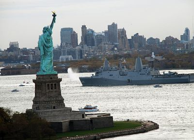 ships, New York City, Statue of Liberty, navy, Staten island - related desktop wallpaper