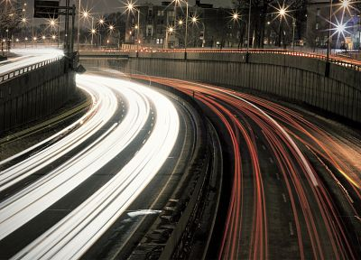 urban, highways, long exposure - random desktop wallpaper