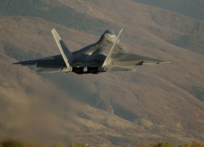 aircraft, military, F-22 Raptor, vehicles - random desktop wallpaper