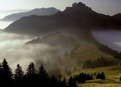 mountains, Germany, Bavaria, Alps - desktop wallpaper