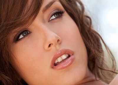 brunettes, women, Malena Morgan, faces, portraits - desktop wallpaper