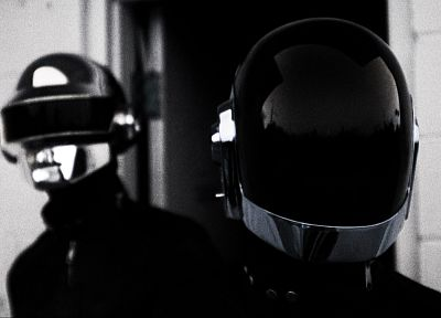 Daft Punk, grayscale, monochrome - desktop wallpaper