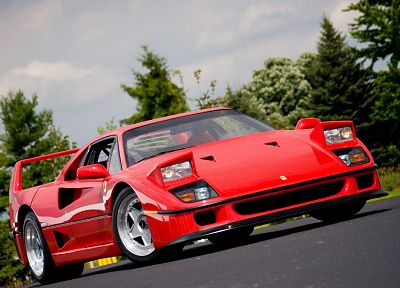 cars, Ferrari, vehicles, Ferrari F40 - random desktop wallpaper