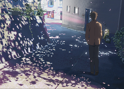Makoto Shinkai, 5 Centimeters Per Second, artwork, anime - desktop wallpaper