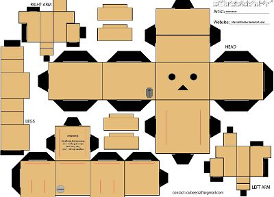boy, white, little, Danboard, papercraft - random desktop wallpaper