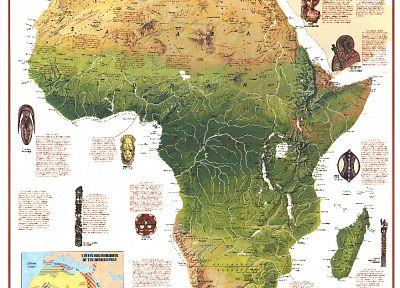 maps, infographics, Africa - related desktop wallpaper
