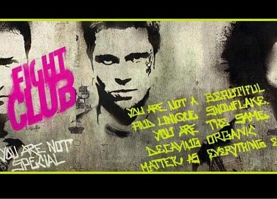 Fight Club, Brad Pitt, Edward Norton, Tyler Durden, Helena Bonham Carter, Marla Singer - random desktop wallpaper