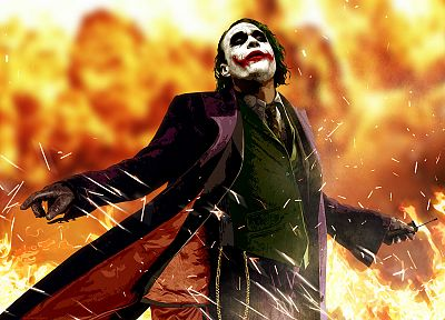 Batman, movies, The Joker, Heath Ledger, The Dark Knight - random desktop wallpaper