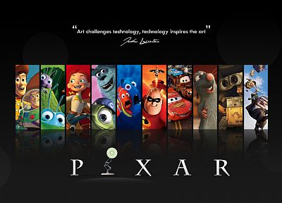 Pixar, movies, Wall-E, cars, quotes, Up (movie), Finding Nemo, Ratatouille, Toy Story, The Incredibles, A Bug's Life - related desktop wallpaper