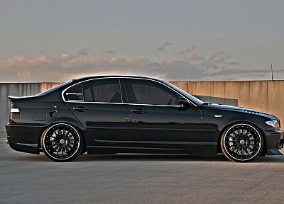 BMW, black, cars, BMW E46, black cars - random desktop wallpaper