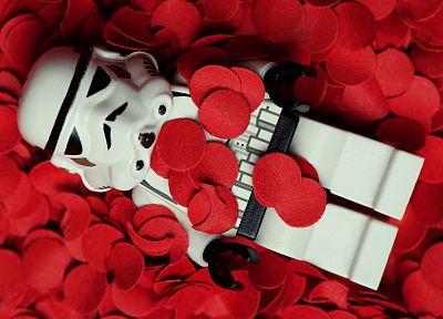 Star Wars, flowers, stormtroopers, American Beauty, Legos, rose petals - desktop wallpaper