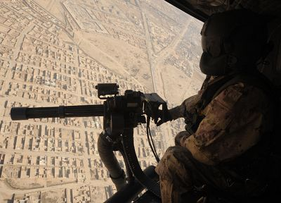 aircraft, military, helicopters, fly, Afghanistan, vehicles, minigun - desktop wallpaper